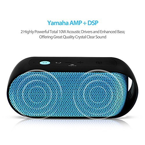 UIUIUS Rain Series Portable IPX6 Waterproof Bluetooth Speaker Enhanced Bass with NFC 10W Output Power Wireless Stereo Outdoor/Shower Speakers Built-in Microphone