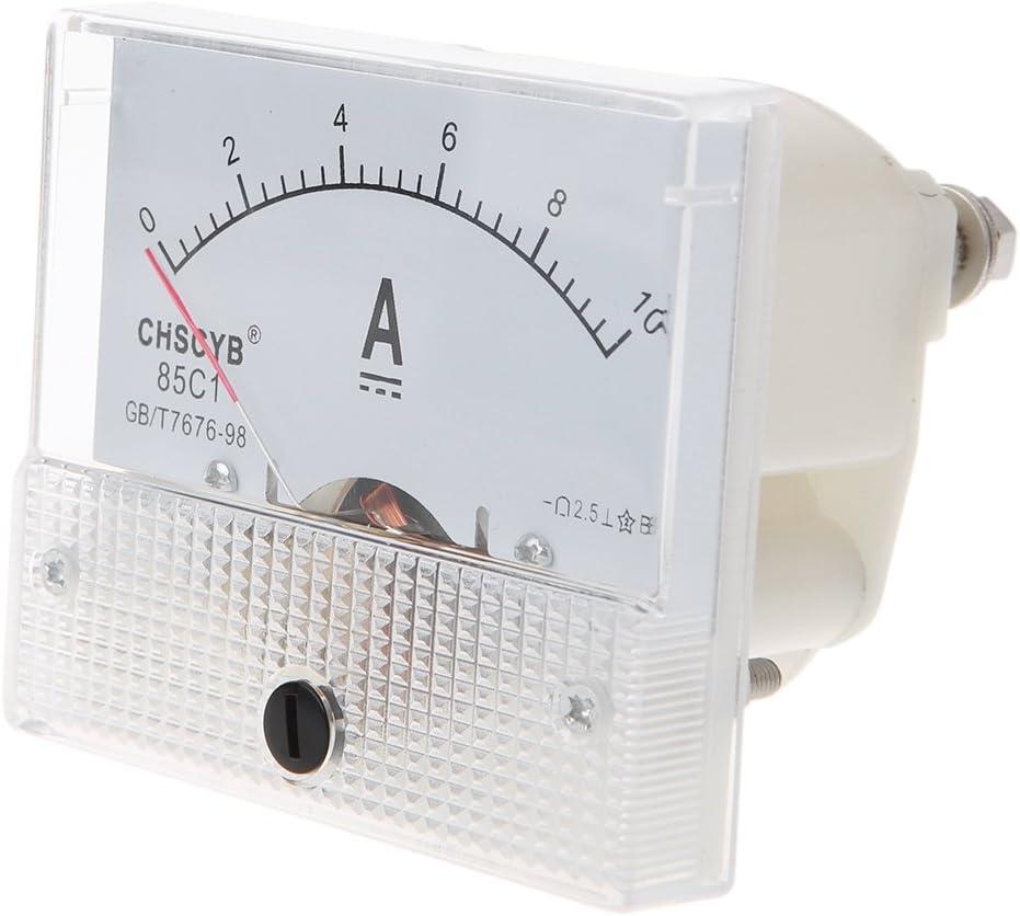 JunYe 0-10A Analogique Courant M/ètre De Panneau Amp/èrem/ètre Rectangle D/étecteur De Mesure