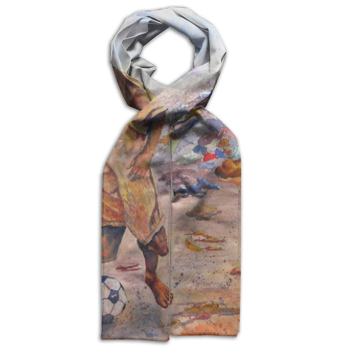 Kids Scarf Child Playing Football Scarves Winter Warm Bandelet For Boys