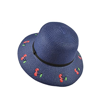 d56d0136f5c KTYX Korean Version Of The Sunscreen Tide Summer Travel Shade Straw Hat  Chinese Style Embroidery Cherry