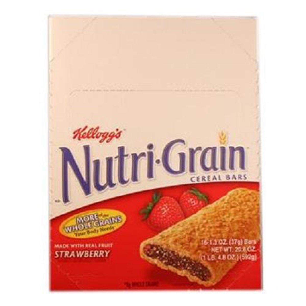 Product Of Kelloggs Nutri-Grain, Cereal Bar Strawberry, Count 16 (1.3 oz) - Granola/Cereal/Oat/Brkfast Bar / Grab Varieties & Flavors