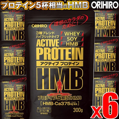 【300gx6袋】オリヒロ アクティブプロテインHMB 300gx6袋(4571157256771-6) B07DLNMDK4