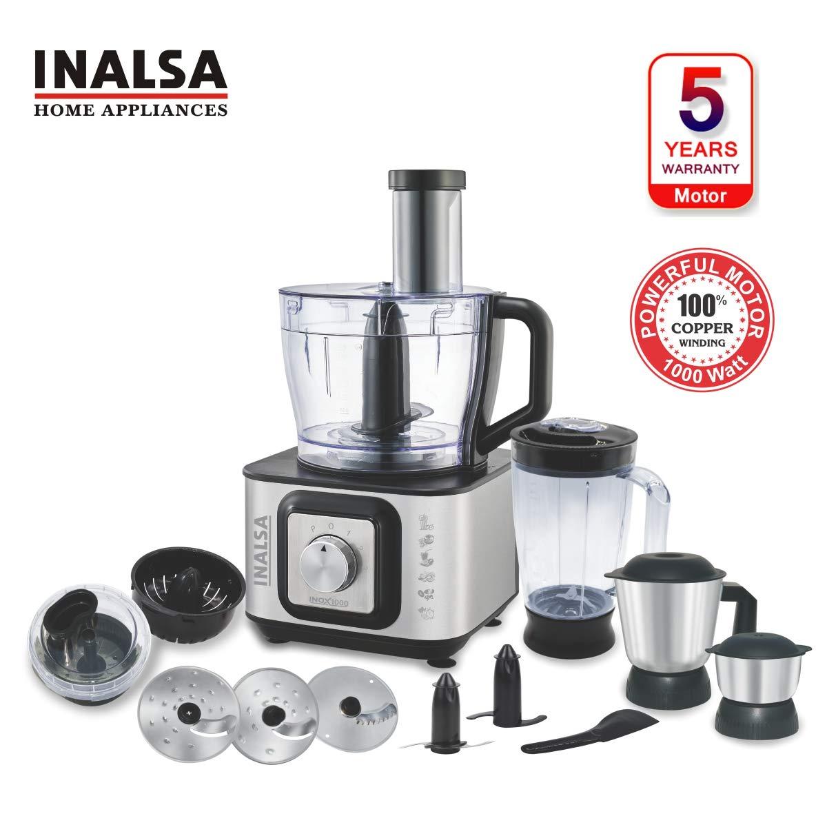 Inalsa Food Processor INOX 1000-Watt