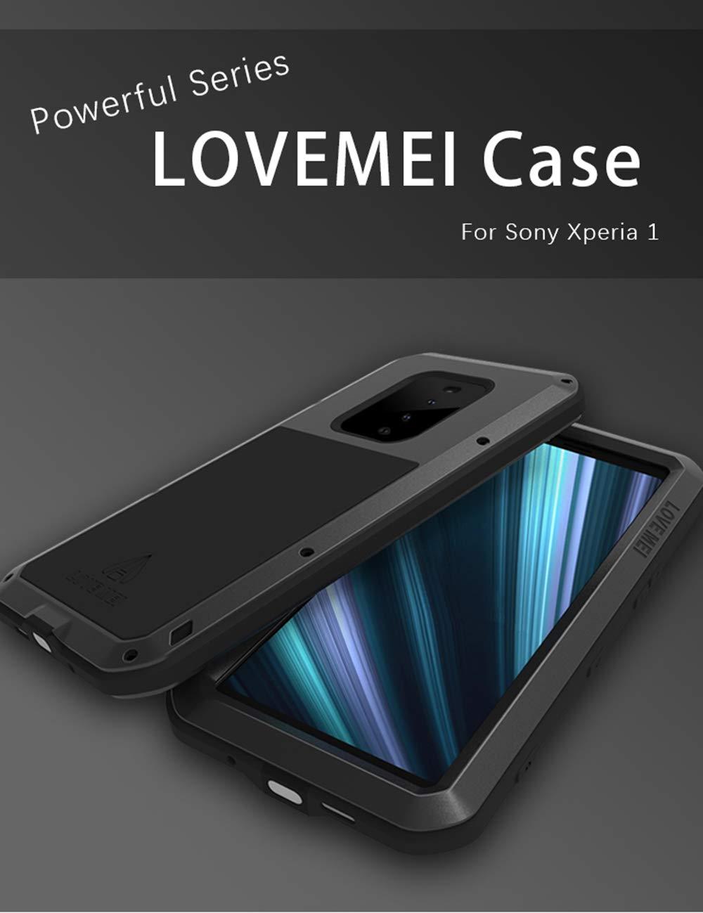 Red UFinetech Shockproof Heavy Duty Sony Xperia 1 Case Hard ...
