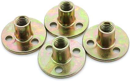 Sharplace 2pcs Chevilles Acier Inox Ecrou Filet/ées /à Vis Vissage Fixation Montage de Meuble en Bois M10
