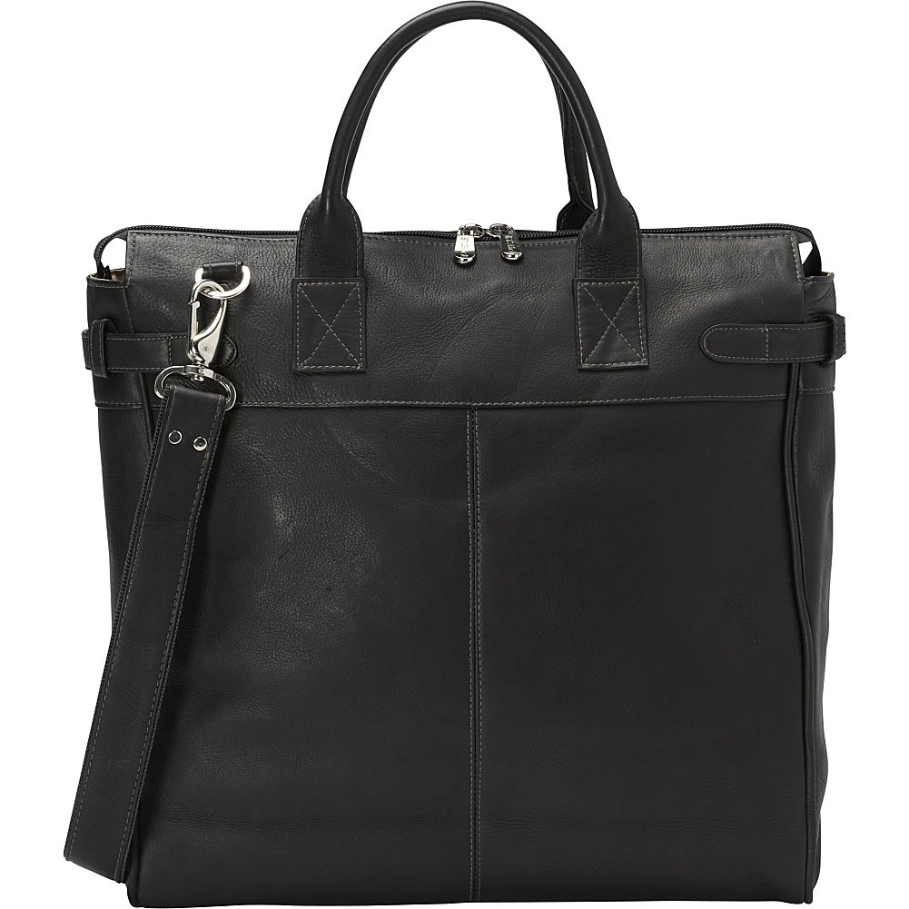 Piel Leather Cross Body Traveler Tote Saddle