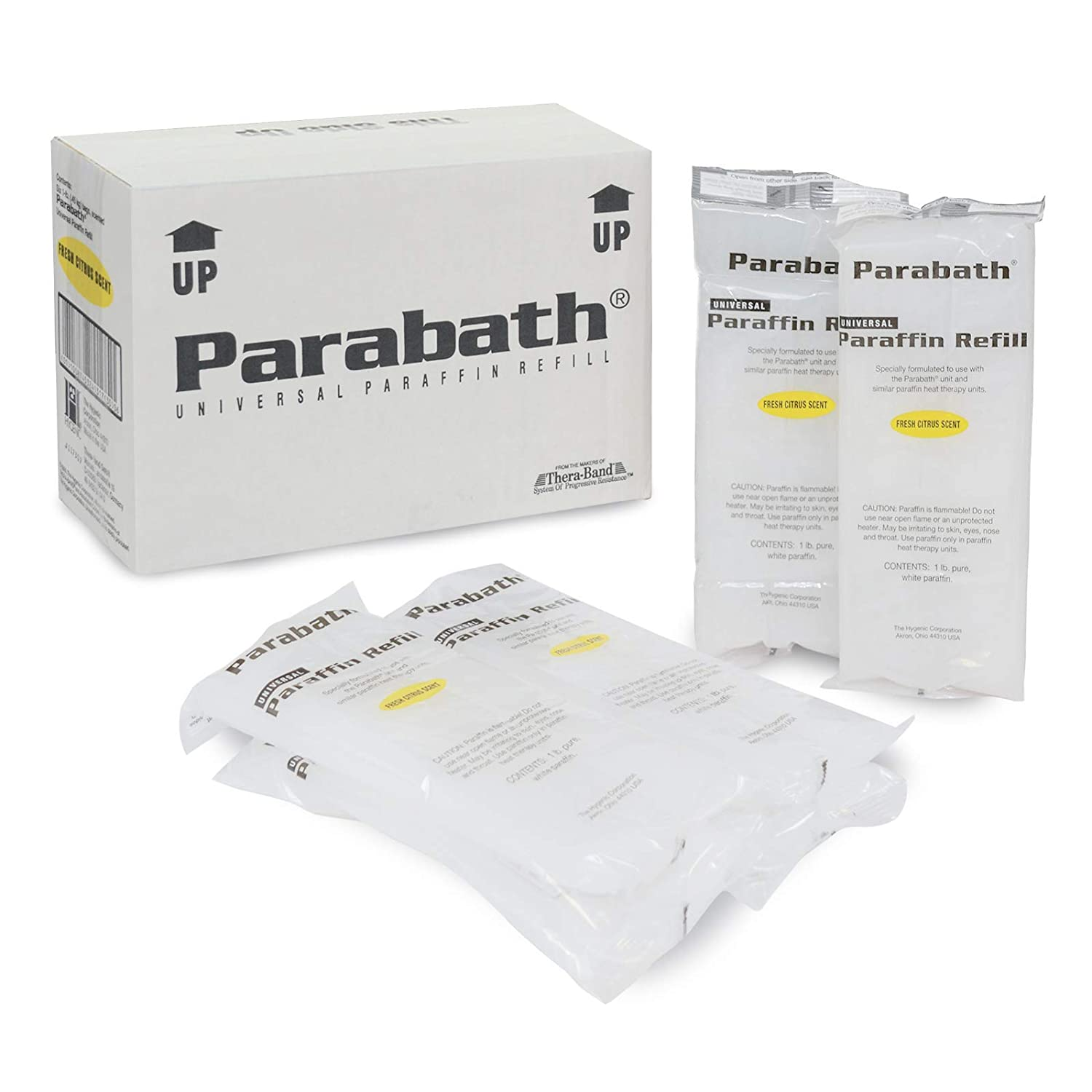 Parabath Paraffin Wax Refill, Bulk 6 lbs of Unscented Paraffin in 1 Pound Bags for Hands & Feet, Use in TheraBand Paraffin Wax Heating Bath, Low Melt Wax for Heat Therapy Pain Relief: Clothing