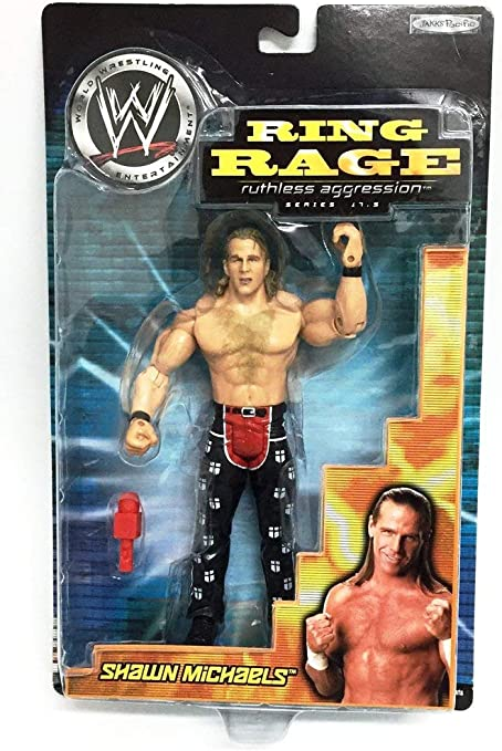 wwe wrestling SHAWN MICHAELS SERIE RUTHLESS AGGRESSION 17,5 RING RAGE