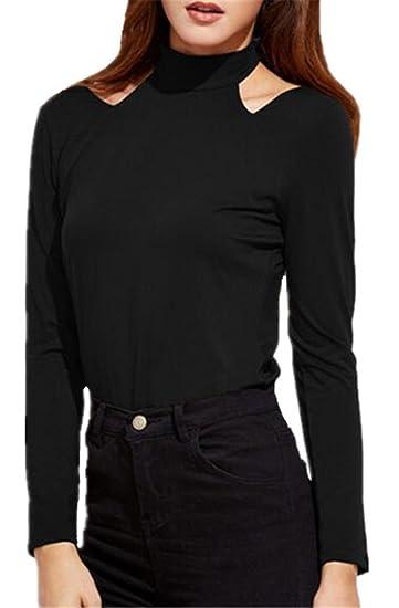 ... T-shirt Clasicos Casual Blusa Color Sólido Camisa Elegantes Ocasionales Camiseta Sencillos Bonitas Tops Cómodo Oficina: Amazon.es: Ropa y accesorios