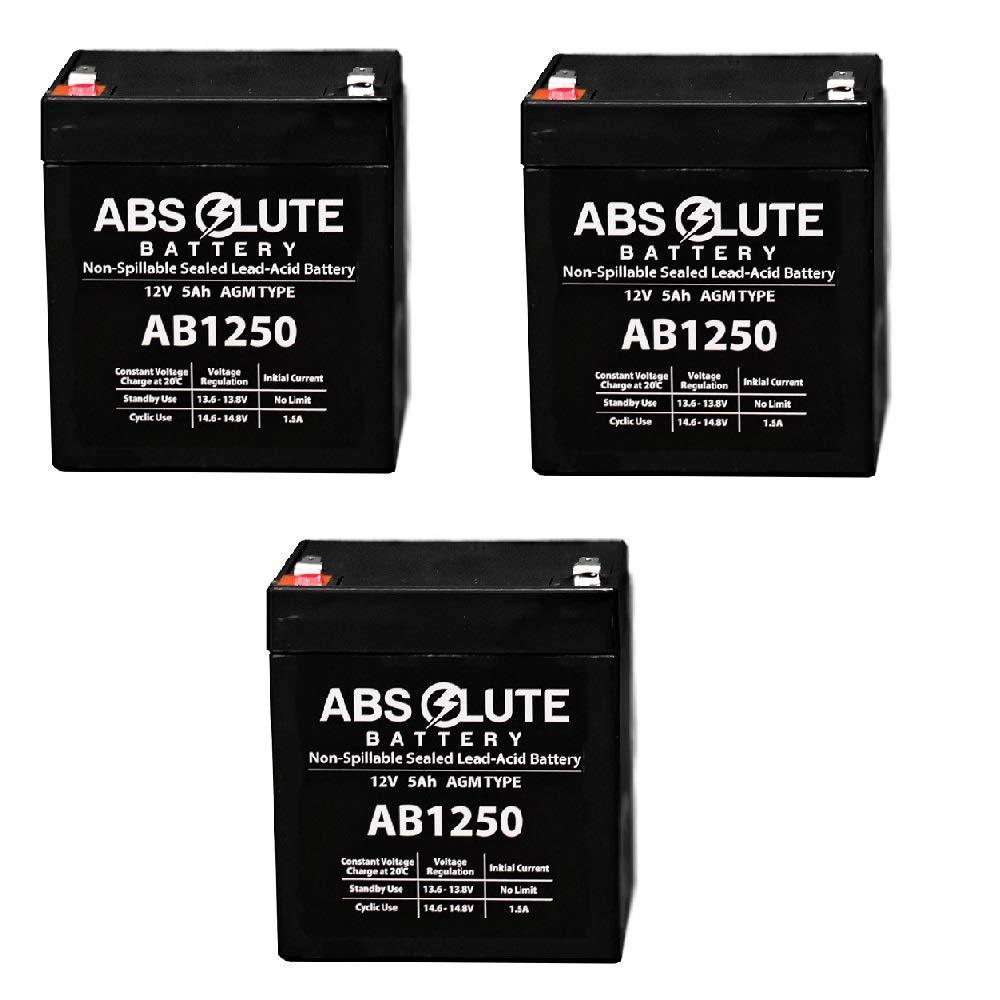 3 Pack New AB1250 12V 5AH SLA Battery for Liebert PowerSure Personal PSP 300