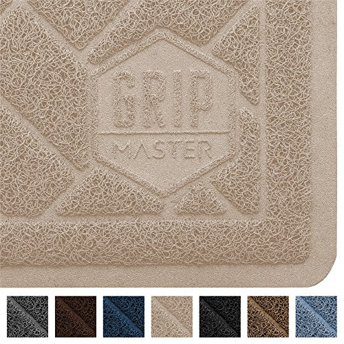 GRIP MASTER Durable Premium Cat Litter Mat (35x23), Highly Effective, XL Jumbo, No Phthalate, Water Resistant, Traps Litter from Box and Cats, Scatter Control, Mats Soft on Kitty Paws (Taupe)