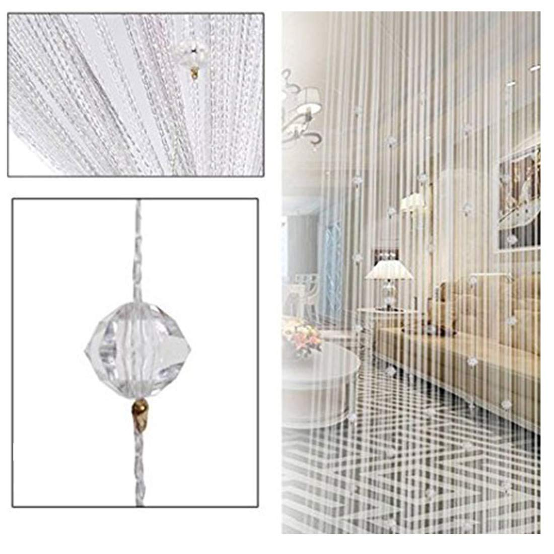 String Door Curtain Beads Room Divider Window Panel Tassel