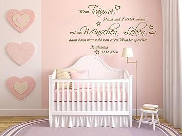 Timalo Wandtattoo Name Kinderzimmer Baby Mit Wunschname