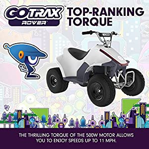 GOTRAX ROVER Electric ATV - Four Wheeler Quad - 36V 500W (White)
