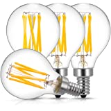 E12 Candelabra LED Light Bulbs 60 Watt Equivalent, DORESshop 6W Dimmable LED Filament Bulb, Decorative Edison G45(G14) LED Gl