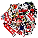 Sticker Decals 104 Pcs - Supreme Laptop Vinyl Stickers car sticker For Snowboard Motorcycle Bicycle Phone Mac Computer DIY Keyboard Car Window Bumper Wall Luggage Decal Graffiti Patches