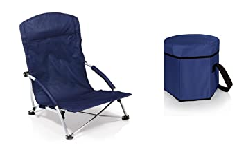 Delicieux Picnic Time Tranquility Chair And Bongo Cooler Tote   Navy, Set Of 2