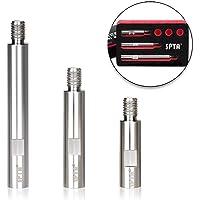 SPTA - Juego de varillas de extensión giratorias de acero inoxidable, 75 mm, 100