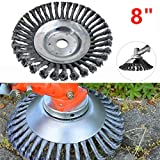 Hongxin Steel PRO Garden Weed Brush Lawn Mower Razors Lawn Mower Eater Trimmer 8 inches Large Cutting Diameter,Hole size1