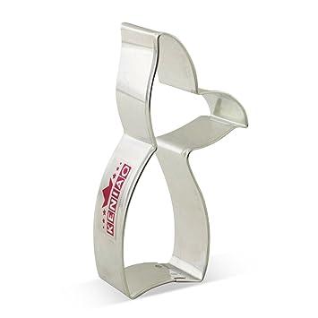 KENIAO Cola Sirena Cortadores de Galletas Cola Ballena Moldes para Galletas - 11 x 5,9 cm - Acero Inoxidable: Amazon.es: Hogar