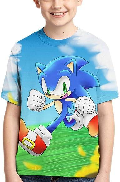 Anime Sonic The Hedgehog Print Kids T-Shirt Boys Girls Summer Short Sleeve Shirt
