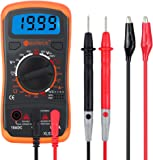 Multimeter Neoteck Pocket Digital Multimeters Multi Tester Voltmeter Ammeter Ohmmeter AC/DC Voltage DC Current Resistance Diodes Transistor Audible Continuity Tester with Backlight LCD for School Laboratory Factory and other Social Fields