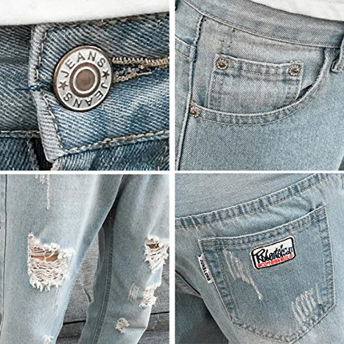 [Nexeed] ジーンズ メンズ ダメージ デニム パンツロング ジーパン スキニー 9分丈 スリム ジーパン