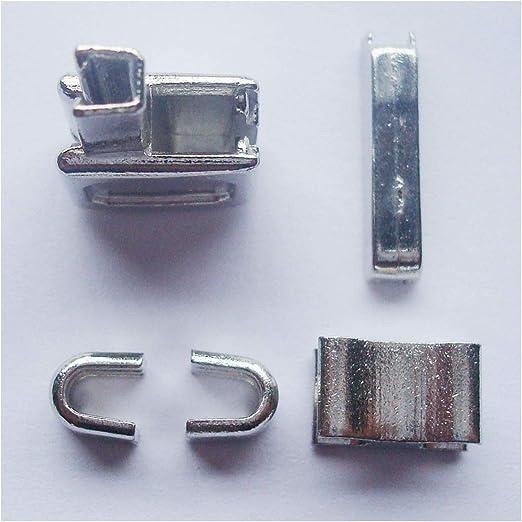 2 juegos de plata # 10 caja de cremallera cabeza de metal pin de inserción de cremallera deslizadores para fácil con cremallera para reparación, kit de reparación de cremallera (# 10): Amazon.es: Hogar