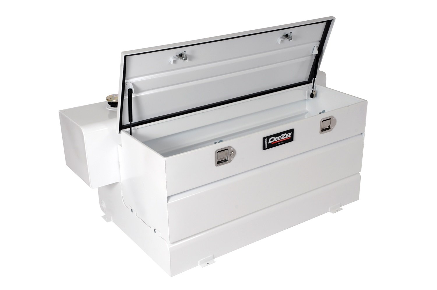 Dee Zee DZ91759S Combo Transfer Tank and Utility Chest - White Steel