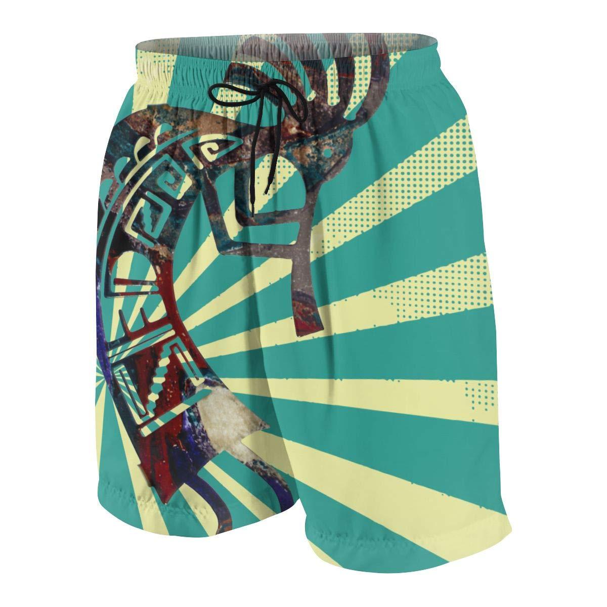 QZqDQ Cool Kokopelli Teenagers Running Swim Board Shorts