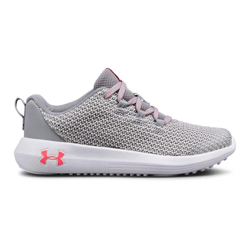 Under Armour Girls' Pre School Ripple Sneaker, Overcast Gray (100)/White, 1.5