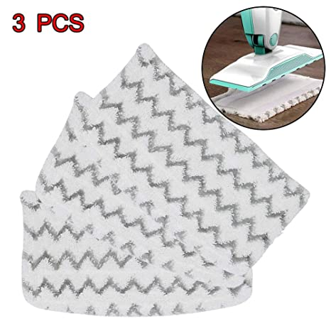 3 Clean Co Steam Mop Pads for Shark Steam Pocket Mop Microfiber Pad Replacement