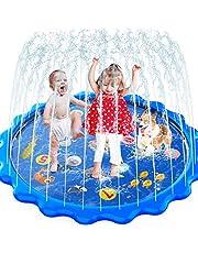 """Peuters Speelgoed - Sprinkler & Splash Play Mat voor peuters, opblaasbare outdoor partij sproeier Pad Wading Pool met 5 patches voor kinderen leeftijd 2+, waterspeelgoed voor zomer buiten tuin strand-68"""""""