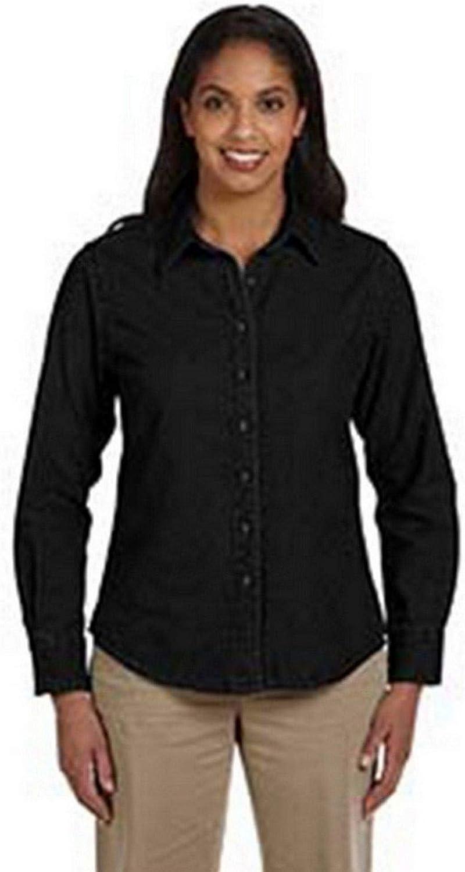 Harriton 6.5 oz. Long-Sleeve Denim Shirt (M550W)