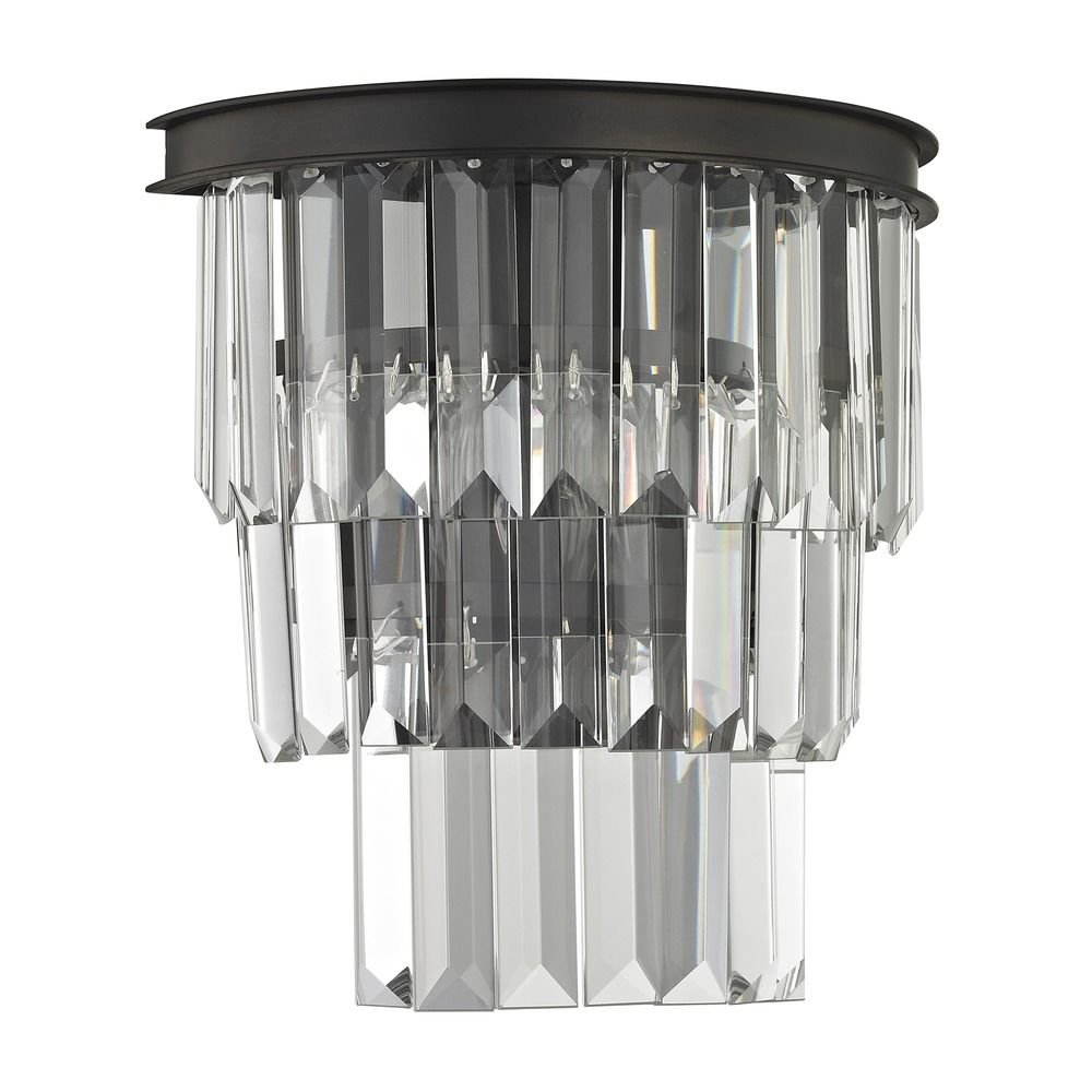 Tiered Crystal Sconce with 2 Lights Bronze by Ashford Classics (Image #3)