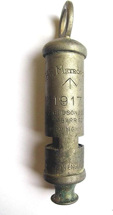 WW1 Trench Whistle Brass British Army RFC RAF WWI British US 1914-1918 Hudson