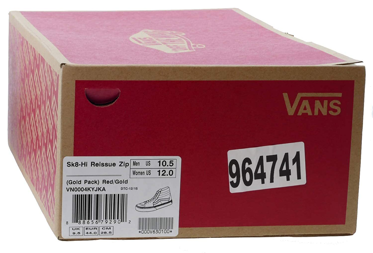 27c76006a2 Vans Sk8-Hi Reissue ZIP Classic gold pack red gold (10.5 UK)  Amazon.co.uk   Shoes   Bags