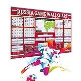 #3: World Cup 2018 Poster, Russia Sosser Wall Chart Keepsake - Large 25