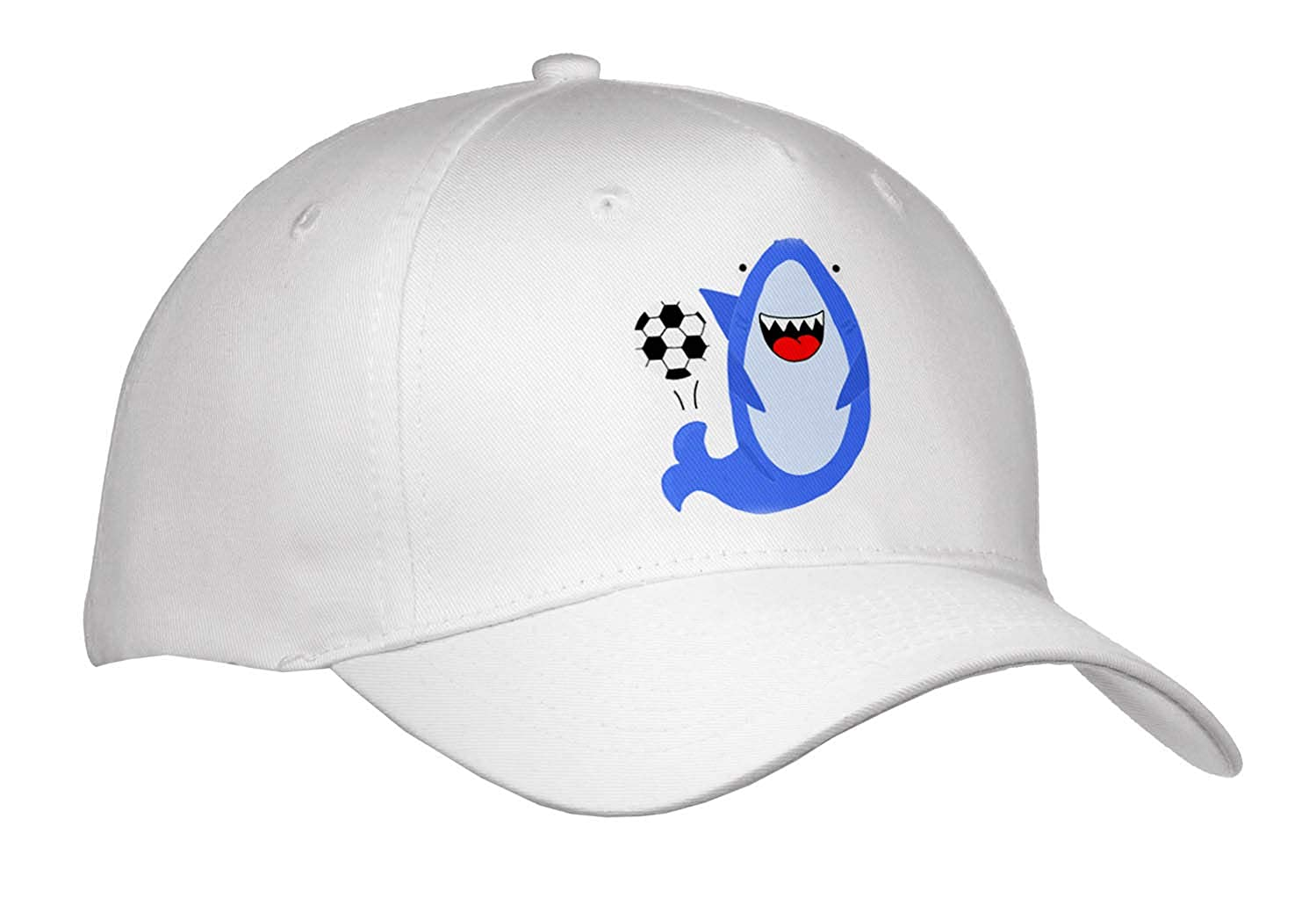 Amazon.com  AllSouthernDesignTees - Sports - Funny Cool Blue Shark Playing  Soccer Ball - Caps - Adult Baseball Cap (Cap 290667 1)  Clothing f679dd174bf