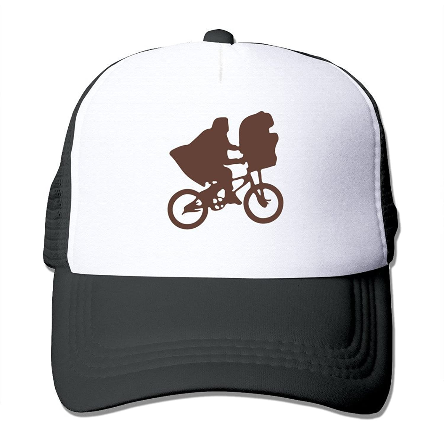 Bro-Custom Ride Bicycle Alien Outline Hiking Hat Caps One Size Fit All Black
