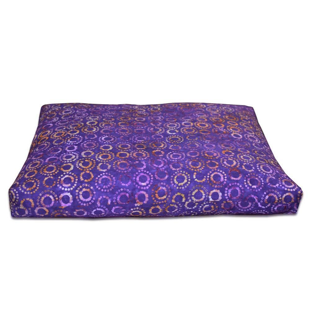 DharmaCrafts Joyful Yogi Batik ZZSet - Zafu and Zabuton Meditation Cushions - Yoga Pillows (Purple Haze) by DharmaCrafts (Image #2)