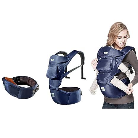 Goodid 3 en 1 mochila portabebes con asiento de cadera (Azul)