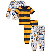 The Children's Place Baby Boys' 4 Piece Short Sleeve Pajama Set