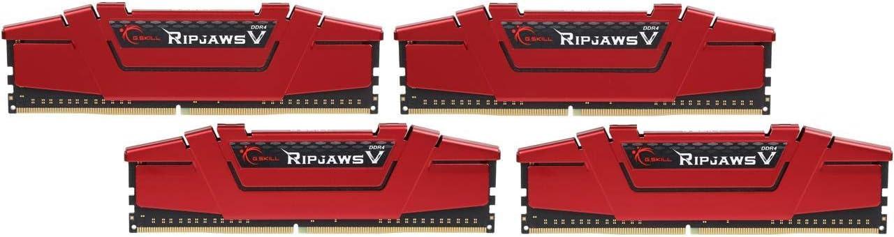 G.SKILL 16GB(4x4GB) Ripjaws V DDR4 3200 (PC4-25600) 288-Pin Desktop Memory Model F4-3200C16Q-16GVRB