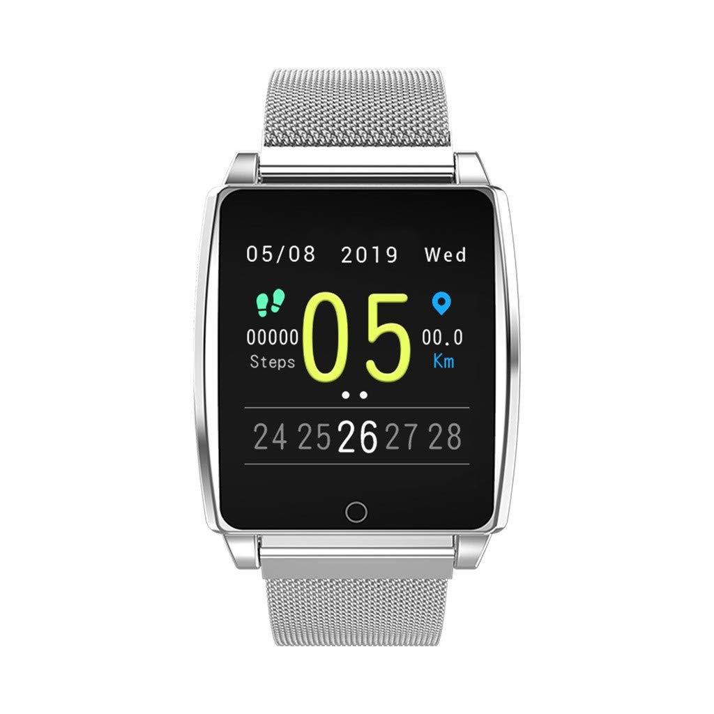 WELCOMEUNI Heart Rate Blood Pressure Sleep Monitoring Fitness Watch Activity Smart Watch Pedometer Tracker