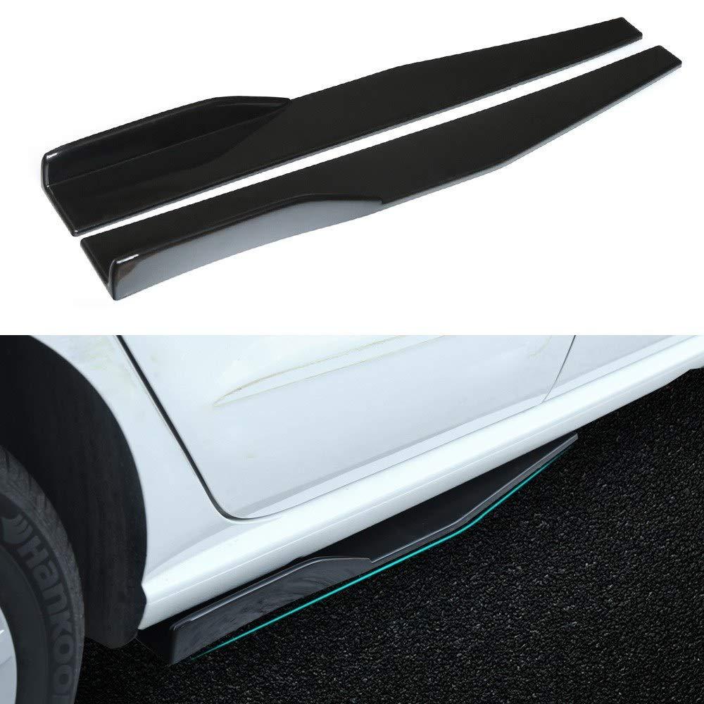 Serui 2 St/ücke Universal Car Body Styling Seitenschweller Rocker Splitter Diffusor Winglet Fl/ügel Sto/ßstange Kit Rot