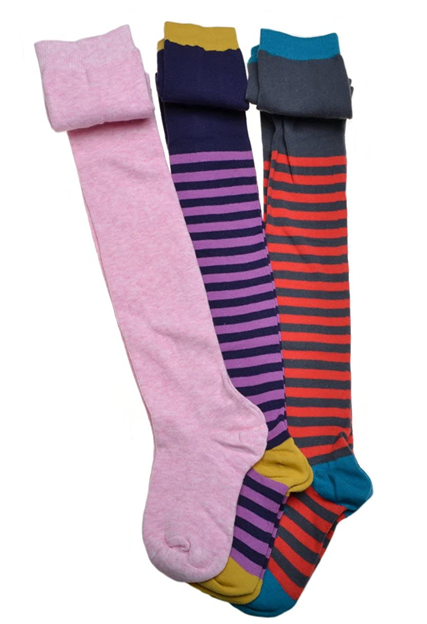 3 Pairs of Girls Tights - Thick Cotton Tights