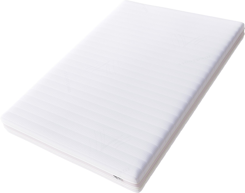 Hilding Sweden Essentials Memoryschaum-/Mittelfeste Matratze, aus thermoelastischem Visko-Komfortschaum, für Alle Schlaftypen (H2-H3)/190 x 90 cm, weiß weiß HA503