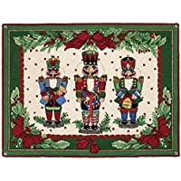 Nutcracker Melody Christmas Wool Hook Area Rug, 34 Inch X 47 Inch