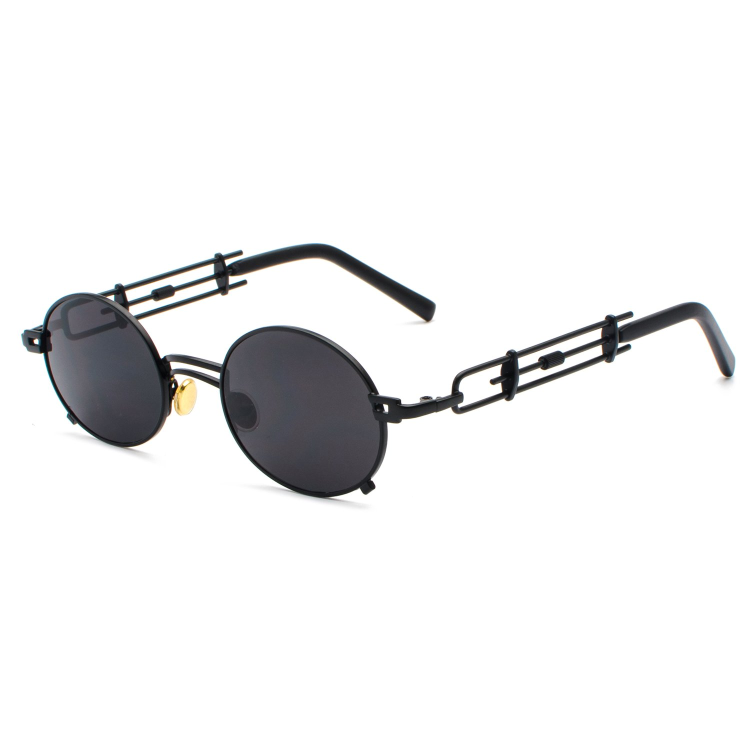 5507929e23 CVOO Gothic Men Steam Punk Sunglasses Women Metal Eyeglasses Sun Glasses  Mirror Male Eye Glasses Shades  Amazon.de  Bekleidung